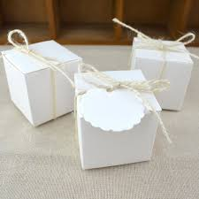 How To Make Decorative Gift Boxes At Home 100pcs White Diy Kraft Box Paper Bag Wedding Box Box For
