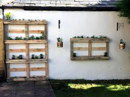 pallet planters vertical and wall hanging with lights 101
