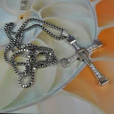 man cross necklace images Wholesale fast and furious five 925 silver cross pendant dominic jpg