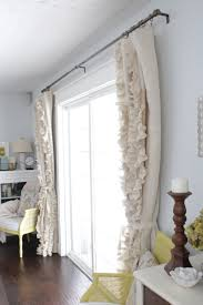 decorating make your home more beautiful with burlap curtains for ruffled burlap curtains in white for home decoration ideas