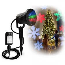 led christmas projector light rotating multi color snowflakes led