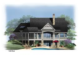 rear rendering of the butler ridge house plan number 1320 d