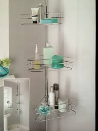 Bathroom Shelve Deluxe Large 3 Tiers Adjustable Telescopic Corner Bathroom Shelves