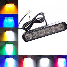 strobe lights for car headlights 2017 car styling 6 led emergency strobe flash warning lights 12v 24v