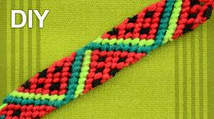 make friendship bracelet patterns images Friendship bracelet watermelon slices diy tutorial jpg
