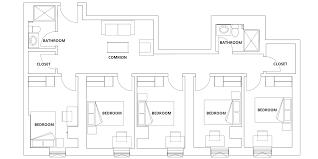One Bloor Floor Plans Campusone Student Residence Floorplans
