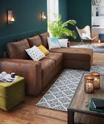 deco canapé cuba salon canapé d angle réversible en croûte de cuir salons
