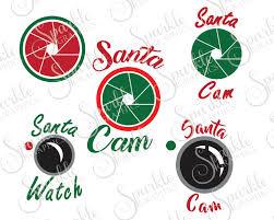 santa cam cut file set christmas svg santa watch camera elf cam