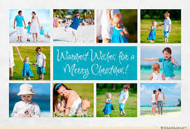 warmest wishes card photo collage