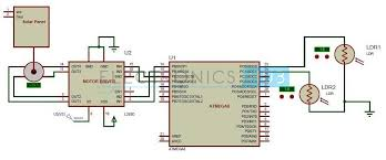 Solar Street Light Circuit Diagram by Sun Tracking Solar Panel Project Using Microcontroller