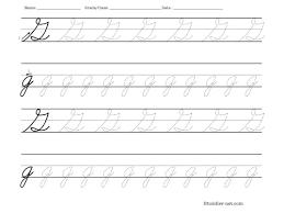 tracing worksheet cursive letter g