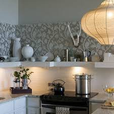 wallpaper backsplash design ideas