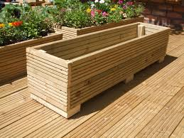 Long Planter Box by Zest 4 Leisure 1 8m Deep Wooden Sleeper Raised Bed Planter