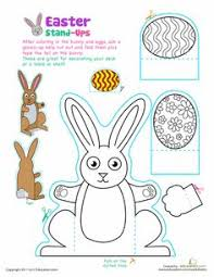 Easter Bunny Decorations Printable by A Free Printable 3d Easter Bunny Decorations Template From Http