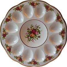 deviled egg plates royal albert country roses deviled egg plate from