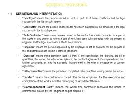 completed definition conditions of contract for works of civil eng ppt download