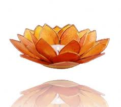 Lotus Flower Tea - lotus capiz shell tea light holder chakra candle eco friendly