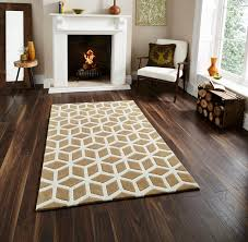Rugs Modern by Hand Tufted Optical Illusion Modern Floor Rug With Geometric
