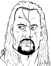 the undertaker coloring pages hellokids com