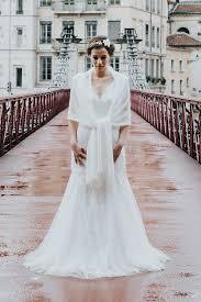 etole pour mariage modèle paula étole mariée tricot en mohair fabriqué en