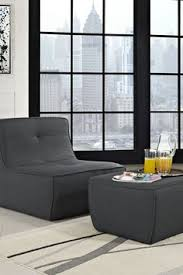 armless chair and ottoman set modrest gamma modern platform storage bedroom by vig furniture
