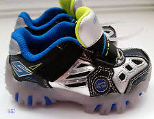 size 5 light up shoes skechers lights black blue silver boys sneaker shoes