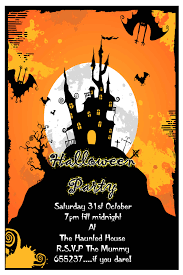 free printable halloween birthday invitations templates free