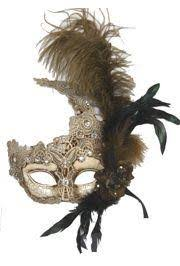 mask with feathers macrame and gold masquerade mask with rhinestones and feathers
