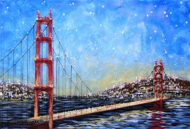 golden gate bridge painting by amy giacomelli