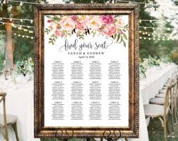 wedding table assignment board table assignment etsy
