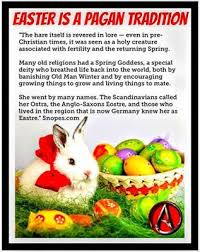 Pagan Easter Meme - ideal pagan easter meme history for atheists easter ishtar eostre