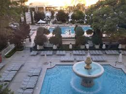 view of pool gardens from the gym picture of bellagio las vegas