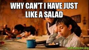 Salad Meme - why can t i have just like a salad make a meme