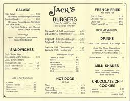 Backyard Burger Hours Menu Jacks Old Fashion Hamburgers U2013 Pompano And Fort Lauderdale