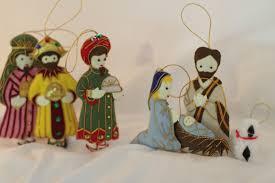 nativity ornament set