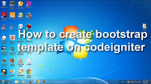 codeigniter how to create bootstrap template on codeigniter