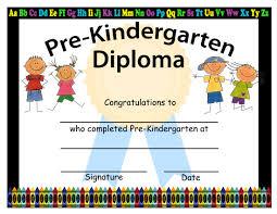 preschool graduation diploma pre kindergarten graduation diplomas blank graduation