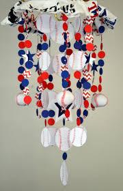 sports baseball crib mobile nursery decor baby by sastaras on zibbet