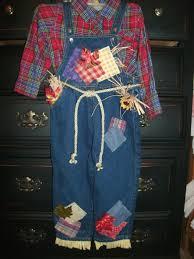 Halloween Scarecrow Costume Girls Size 3t Scarecrow Costume Halloween Plaid Shirt Denim