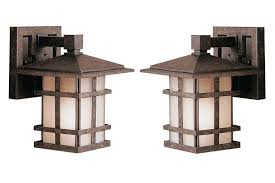 mission style outdoor wall light mission style outdoor lighting kichler newport wall sconce within