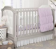 Convertible Baby Crib Sets Lavendar Ruched Nursery Bumper Set Bumper Crib Fitted Sheet