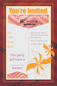 save the date halloween party places for birthday parties birthday party spooky nook sports