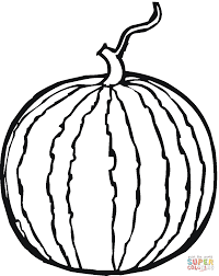 whole watermelon coloring page free printable coloring pages