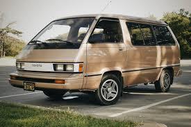 toyota minivan period perfect 1985 toyota van le bring a trailer