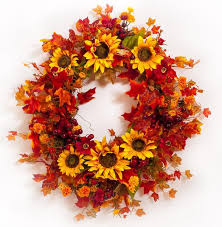 fall wreaths sunflower berry fall wreath silk darby creek trading