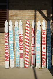 snowmen made out of old picket fences holiday ideas pinterest