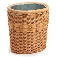 oval wicker waste basket the basket lady