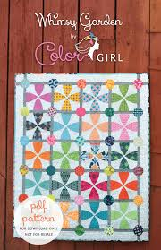 interesting sew a whimsy garden quilt pattern available color