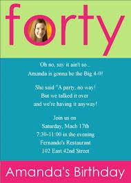birthday invites simple 40th birthday invitation wording ideas