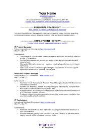 Employment History On Resume Monster Resume Samples Resume Templates